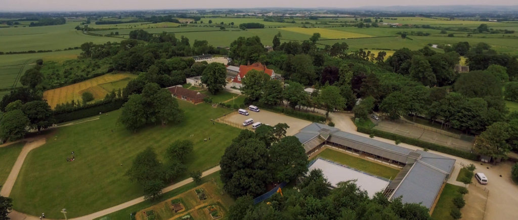 Cundall Manor Drone View